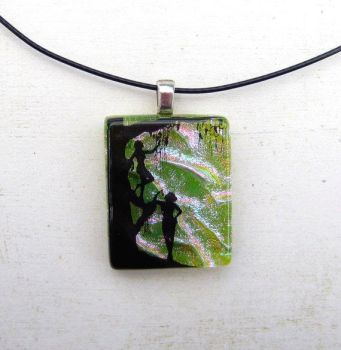 Forest Nymph Fused Glass Pendant by FusedElegance