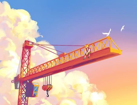 On my crane by Tohad