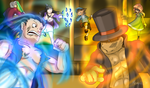 Professor Layton VS Ace Attorney for real by Memoski