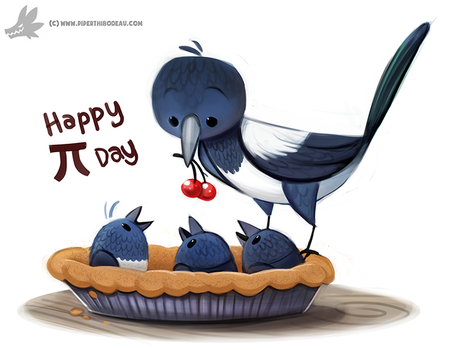 Daily Paint #1210. Magpie by Cryptid-Creations