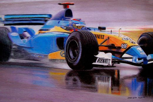 Renault throught the water by johnwickart