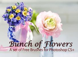 Bunch of Flowers: PS Brush by fiftyfivepixels