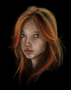 Red Head (Drawing from Reference) by KevinFurr