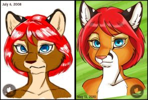 Leilani Comparison Then and No by KittMouri