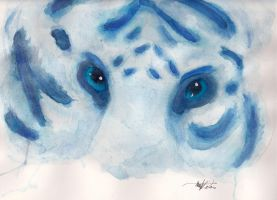 Tiger Eyes: Watercolor by foxy-chan22