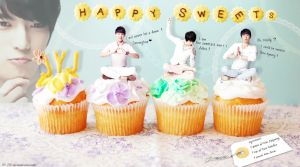 JYJ Wallpaper Happy Sweets by ZirMaze