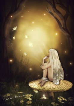 Fairy in the forest by ScrimshawSister