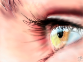 Speed Finger Painting of an eye (on the iPad) by chaseroflight