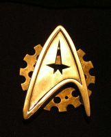 Close up of Steampunk Star Trek badge 2 by TreeVor