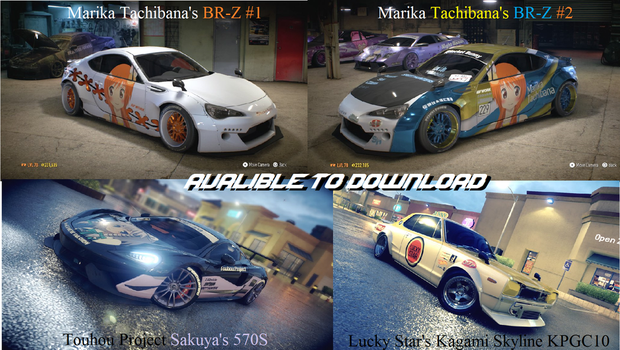 NFS Itasha Wraps Avalible now to download by Kevster823