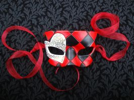 White Knave of Hearts Mask by merimask