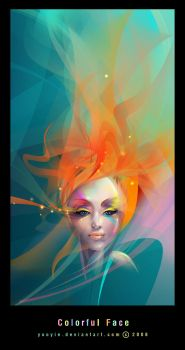 Colorful Face by YooYie