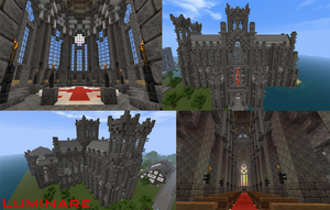 Minecraft- York Minster Cathedral by X-Luminare-X