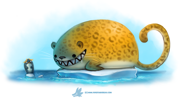 Daily Paint #1269. Leopard Seal by Cryptid-Creations