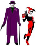 The Joker and Harley Quinn model sheet by StevenEly