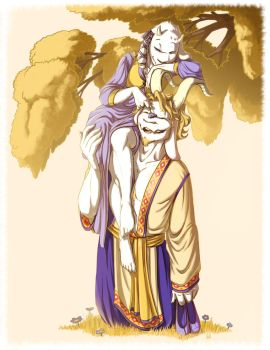 Toriel and Asgore In Their Youth by oennarts