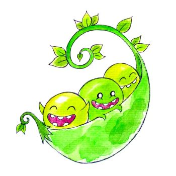 Monster of the Day #1270 Pea Pod Monsters! by jurries21