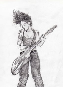 Guitar girl by MsBean