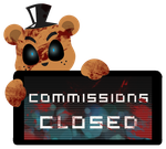 Freddy Commissions Closed Stamp by Ink-cartoon