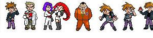 Pokemon Yellow Key Characters by ffbros