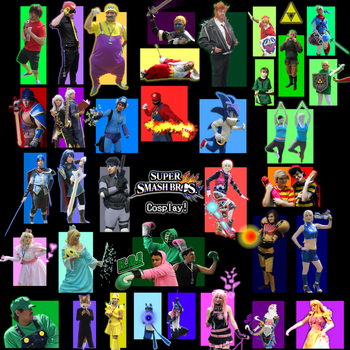 Super Smash Bros. Poster (ft. AMAZING TX. Cosplay) by sonic2000121