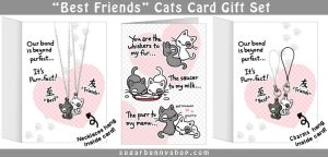 Best Friends Cats Gift Set by celesse