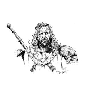 The Hound (micron pen) by theonlybriman47