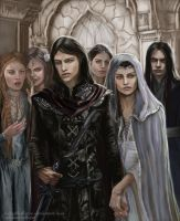 Half Noldor - Aredhel and Maeglin return by Ladyoftheflower