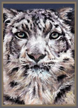 The Snow Leopard - pastel by Lynne-Abley-Burton