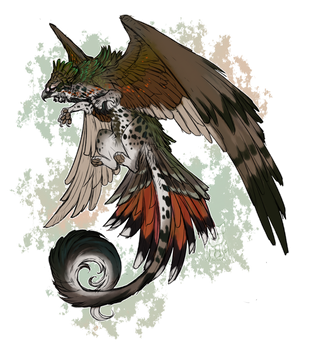 Gryphon Adopt - Green and Orange OPEN by Hlaorith