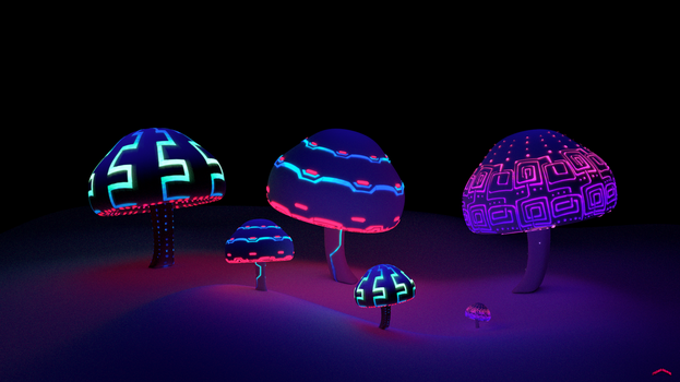 Concept Art - Mushrooms for Nowhere by SylviaRitter
