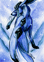 Eveelution ACEOs - Glaceon by DragonOfSilverStars