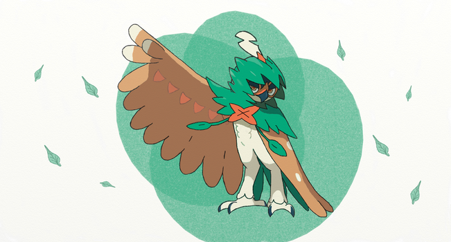 Alola Pokedex #3 Decidueye by sketchbase