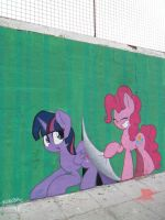 Breaking the 4th wall, once again - MLP Graffiti by ShinodaGE