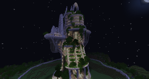 Eco Tower at night by phonophobie