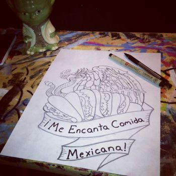 my I Love Mexican Food tattoo design by sampson1721