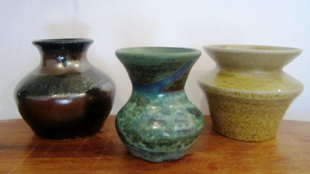 3 small vases by Brookelynn-marie