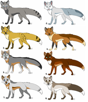 Fox adopts: batch 2 - All sold by KaiserTiger