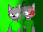 [Gift] Daniel and Cyborg Daniel by PizzaSugar
