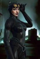 Anne Hathaway as Catwoman by fanboiii
