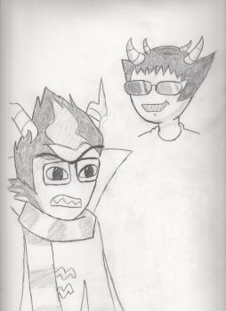 Eridan and Sollux by BrownMarten