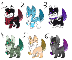 Monster Spectral Tail Pups Adopt [CLOSED] by Unh0ly0ffspringAdopt