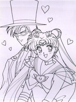 Sailor Moon and Tuxedo Mask by brasilia12