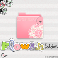 Folder Pink Flowers png-ico-Mac OS x icon by creamanuali