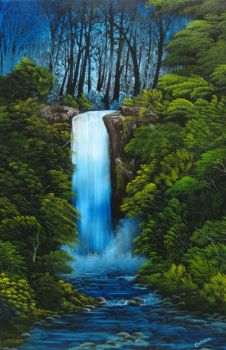 Giant Waterfall by crazycolleeny