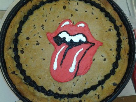 Rolling stones Cookie Cake by whitedove77