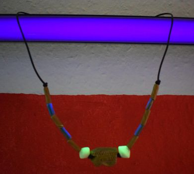 Eye Of Heru amulet with UV active beads by PoetaImmortalis