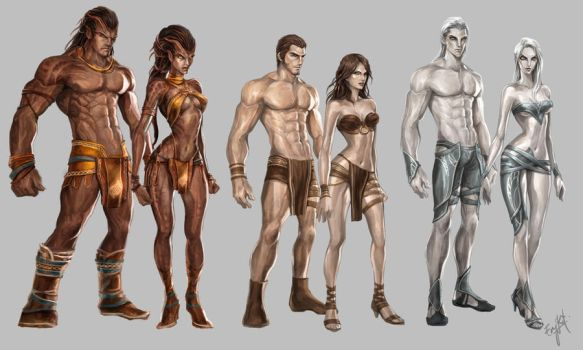 The races from the Land of Etheron by engkit