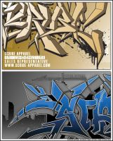 SCRIBE APPAREL - business card by edit-dsn