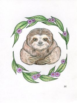 Sloth - tattoo design by Arieegreen